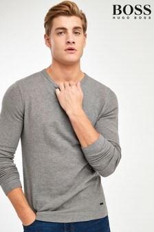 BOSS Tempest Long Sleeve Waffle T-Shirt