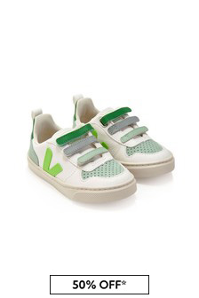 Veja Girls White Vegan Leather Trainers