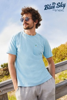 Mr Blue Sky Organic Cotton Pocket T-Shirt