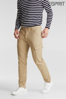 Esprit Cream Woven Straight Cargo Pants