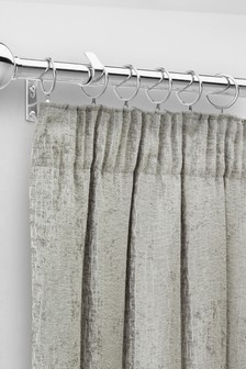 6 Pack 28mm Diam Chrome Metal Curtain Pole Rings