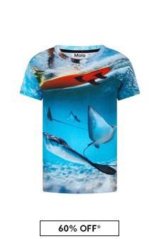Molo Boys Blue Cotton T-Shirt