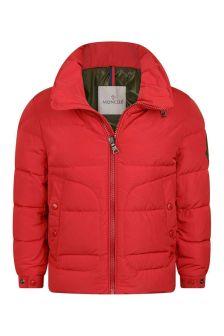 Moncler Enfant Boys Red Down Padded Badenne Jacket