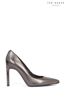 Ted Baker Grey Metallic Court Shoes