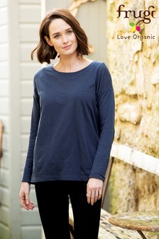 Frugi GOTS Organic Long Sleeve Maternity To Breastfeeding Top