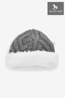 The Little Tailor Charcoal Plush Lined Knitted Hat
