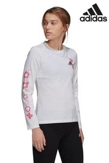 adidas Floral Long Sleeve T-Shirt