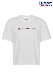 Tommy Jeans Coloured Linear Logo T-Shirt