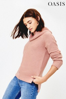 Oasis Pink Lucy Ottoman Jumper