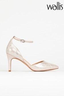 Wallis Cordelia Pink Ankle Strap 2 Part Court Shoes