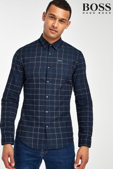 BOSS Blue Bertillo Long Sleeve Shirt