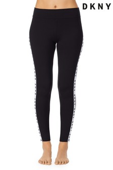 DKNY Black Logo Sleep Leggings