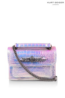 Kurt Geiger London Metalic Croc Small Chelsea Leather Bag