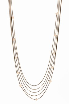 Multi-Row Long Necklace