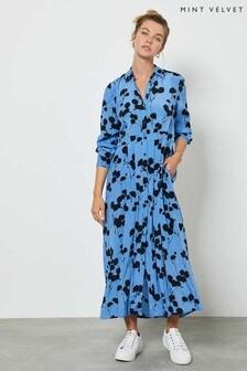 Mint Velvet Abi Floral Pleated Midi Dress