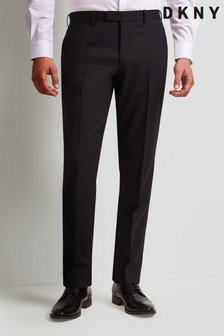 DKNY Black Slim Fit Dress Trousers