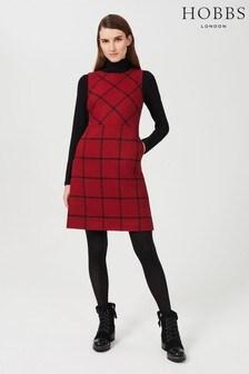 Hobbs Red Verity Wool Dress
