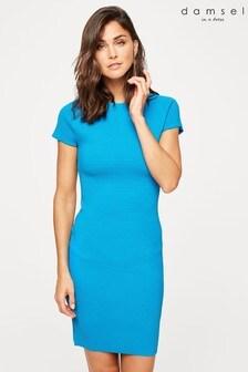 Damsel In A Dress Blue Mandy Ripple Dress