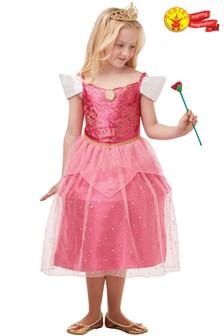 Rubies Glitter Sparkle Aurora Fancy Dress Costume