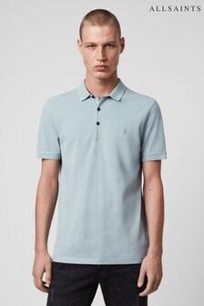 AllSaints Pale Blue Reform Poloshirt