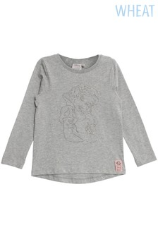 Wheat Grey Snow White Rhinestones T-Shirt