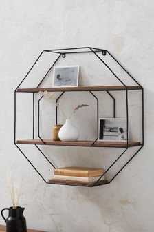 Salvage Octagon Shelf