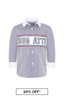 Bugatti Baby Boys Blue Cotton Boys Shirt