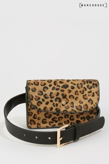 Warehouse Animal Leopard Belt Bag