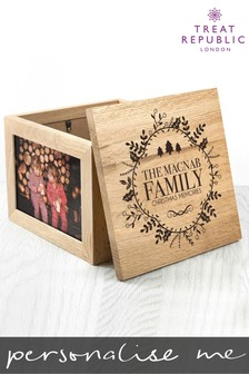 Personalised Traditional Memory Box Gift Set by Treat Republic