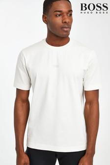 חולצת טי עם לוגו מרכזי של BOSS