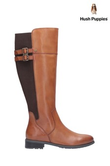 Hush Puppies Tan Arla Long Boots