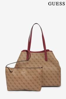 Guess Brown Vikki Large Tote Bag