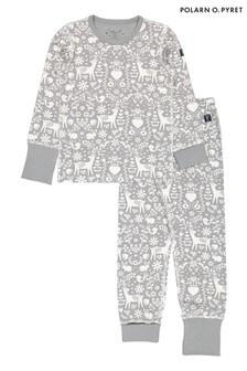 Polarn O. Pyret Natural GOTS Organic Nordic Print Pyjamas