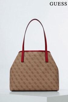 Guess Brown Vikky Tote Bag