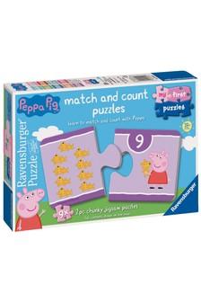 Ravensburger Peppa Pig™ 9 x 2 Piece Shaped Jigsaw Puzzles