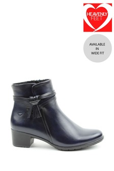 Heavenly Feet Annie Ladies Low Heeled Ankle Boots
