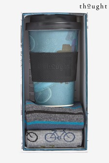 Thought Blue Cyler Bamboo Cup And Socks Gift Pack