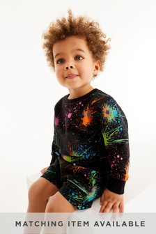 Rainbow Splat Crew Top (3mths-7yrs)