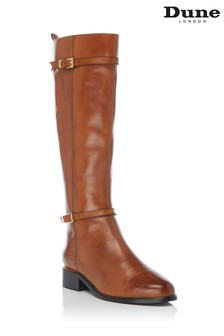 Dune London Top Black Buckle Knee High Boots