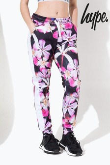 Hype. Pink These Flowers Crest Kids Joggers
