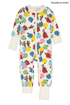 Polarn O. Pyret Natural GOTS Organic Chip 'N' Dale Sleepsuit