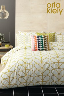Orla Kiely Linear Stem Cotton Duvet Cover and Pillowcase Set