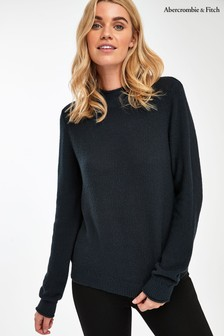 Abercrombie & Fitch Black Roll Neck Jumper