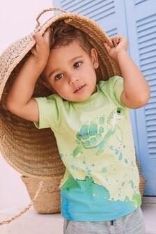 Short Sleeve Watercolour Turtle T-Shirt (3mths-7yrs)