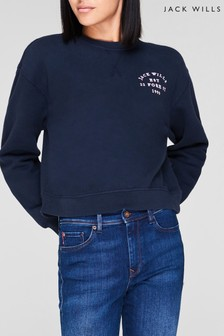 Jack Wills Navy Mellow Crew Jumper
