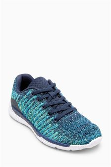 Knitted Elastic Lace Trainers (Older)