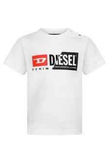 Diesel Baby Boys White Cotton Jersey T-Shirt