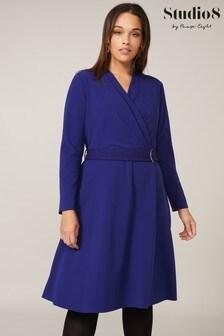 Studio 8 Blue Susan Stretch Crepe Dress