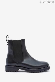 Mint Velvet Greta Black Chelsea Boots