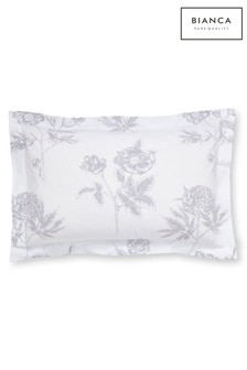 Botanical Floral Cotton Oxford Pillowcases by Bianca